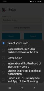 "Step 3) Select the ""International Brotherhood of Electrical Workers"" from the ""Union"" drop-down menu"